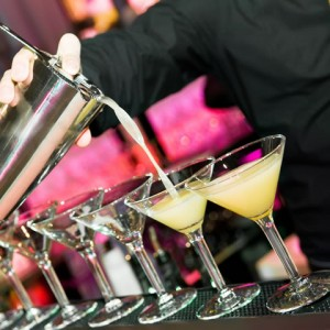 cocktails being poured